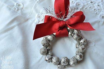 German Glass Glitter Jingle Bell Wreath Tutorial   Little Birdie Secrets   Christmas wreath ...
