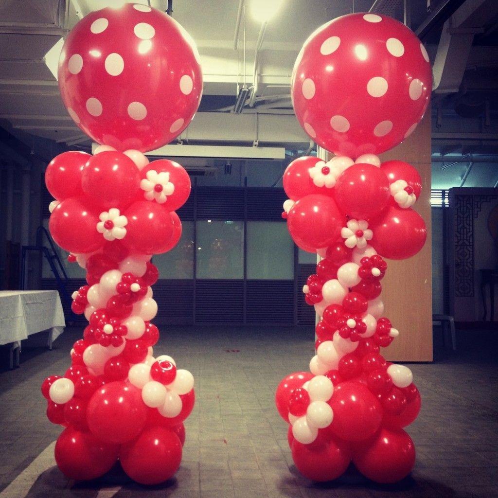 Balloon Decoration Columns   Google Search