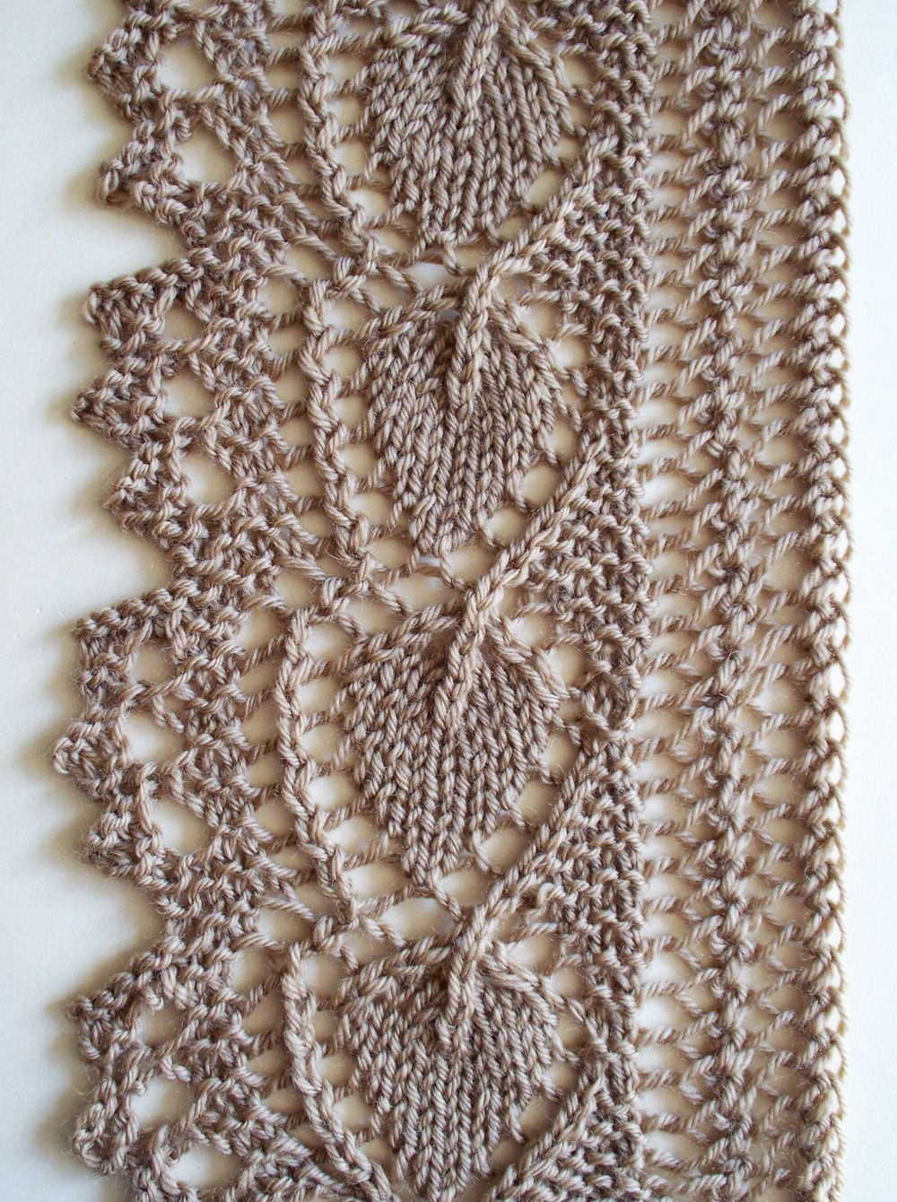 Click for full screen display diy knitting 3 pinterest click for full screen display leaf knitting patternlace bankloansurffo Choice Image