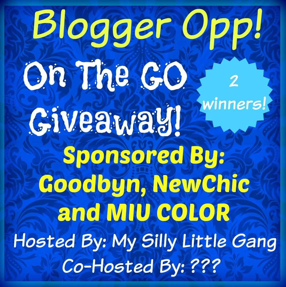 Blogger Opp: On The Go Giveaway! 2 Winners! #Free & #Paid Options Available (Sign Ups Close 6/27)