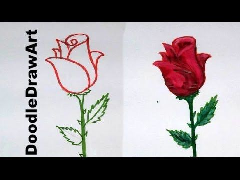 Have Fun Drawing From These 50 Selected Rose Drawing Tutorials Each How To Draw A Rose Tutorial Has Easy Step By Ste Flower Drawing Roses Drawing Cartoon Rose