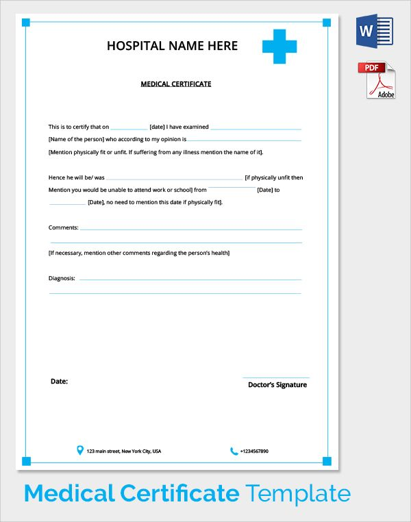 Sample Medical Certificate Download Documents Pdf Word From Doctor