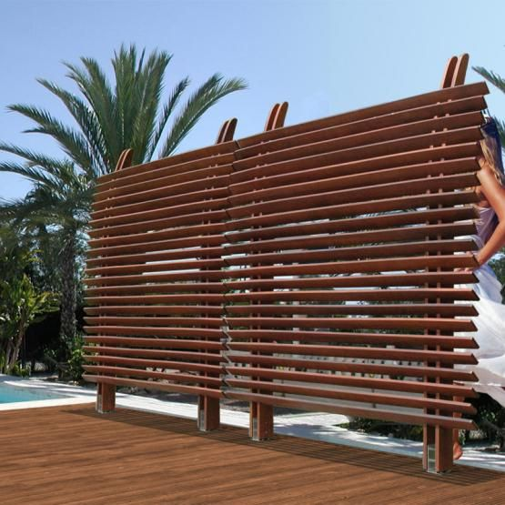 Lamellenzaun FSC®-Eukalyptusholz Luftig-leicht: Die