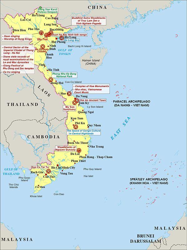 National Heritage sites in Vietnam