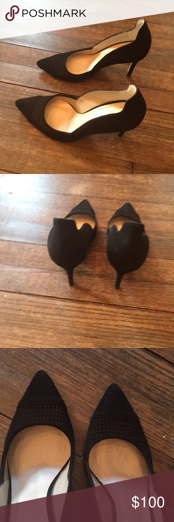Black suede pumps Karen millen Back sued pumps Worn once my feet are too wide for them. Size 38 or US 8 Karen Millen Shoes Heels