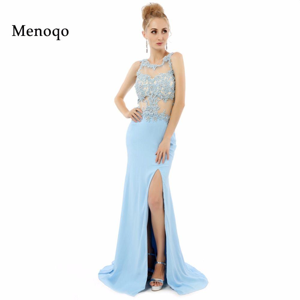 Real photo light blue prom dresses fast shipping vestidos de