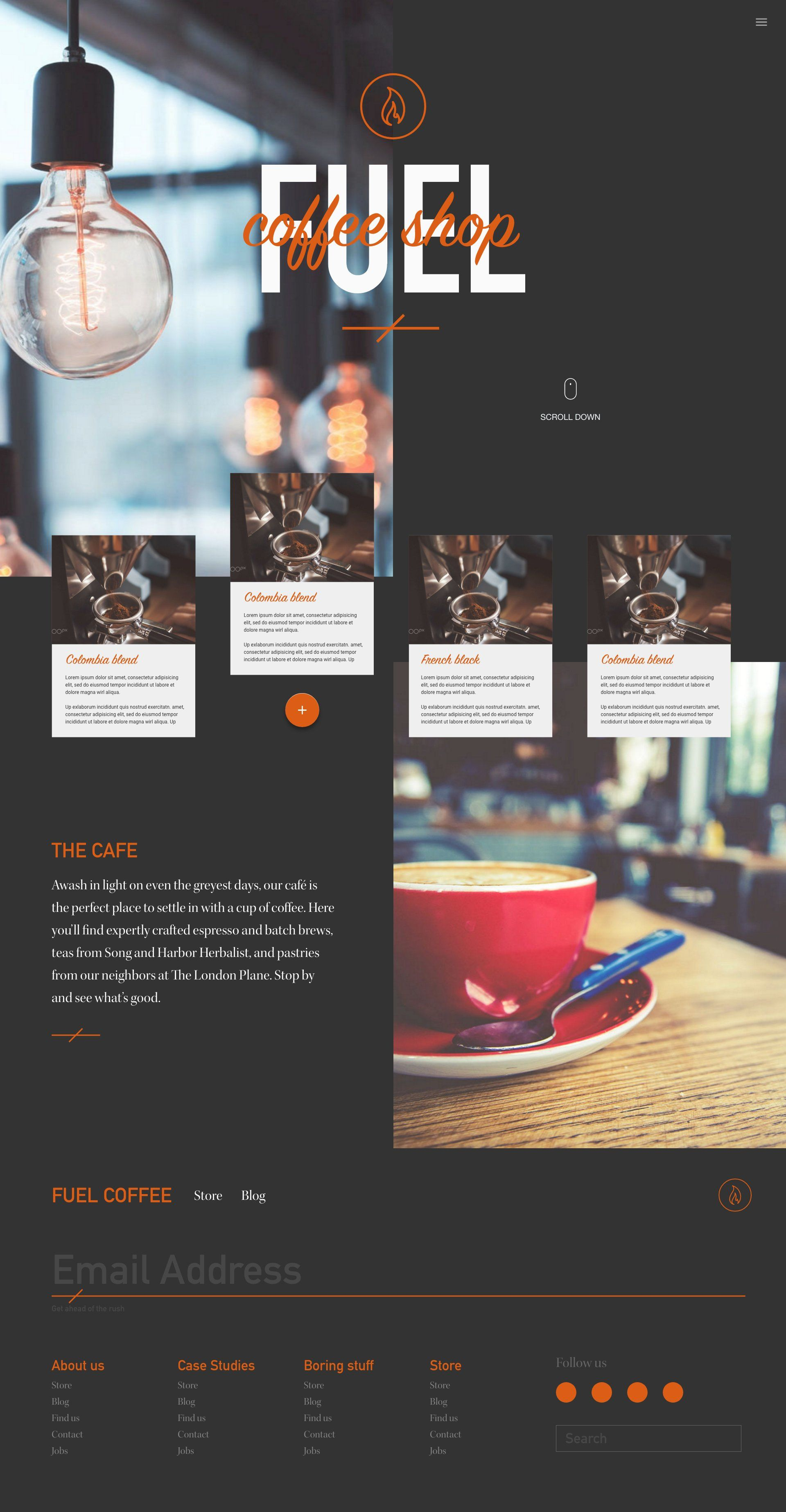 Coffee Shop Site Template In 2020 Cafe Website Design Restaurant Website Design Coffee Site