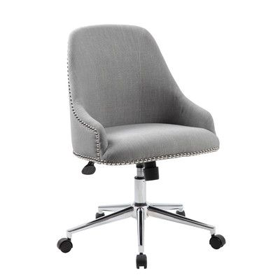 mercury row blackshire mid back desk chair upholstery grey rh pinterest co uk White Desk Chair Best Inexpensive Office Chair