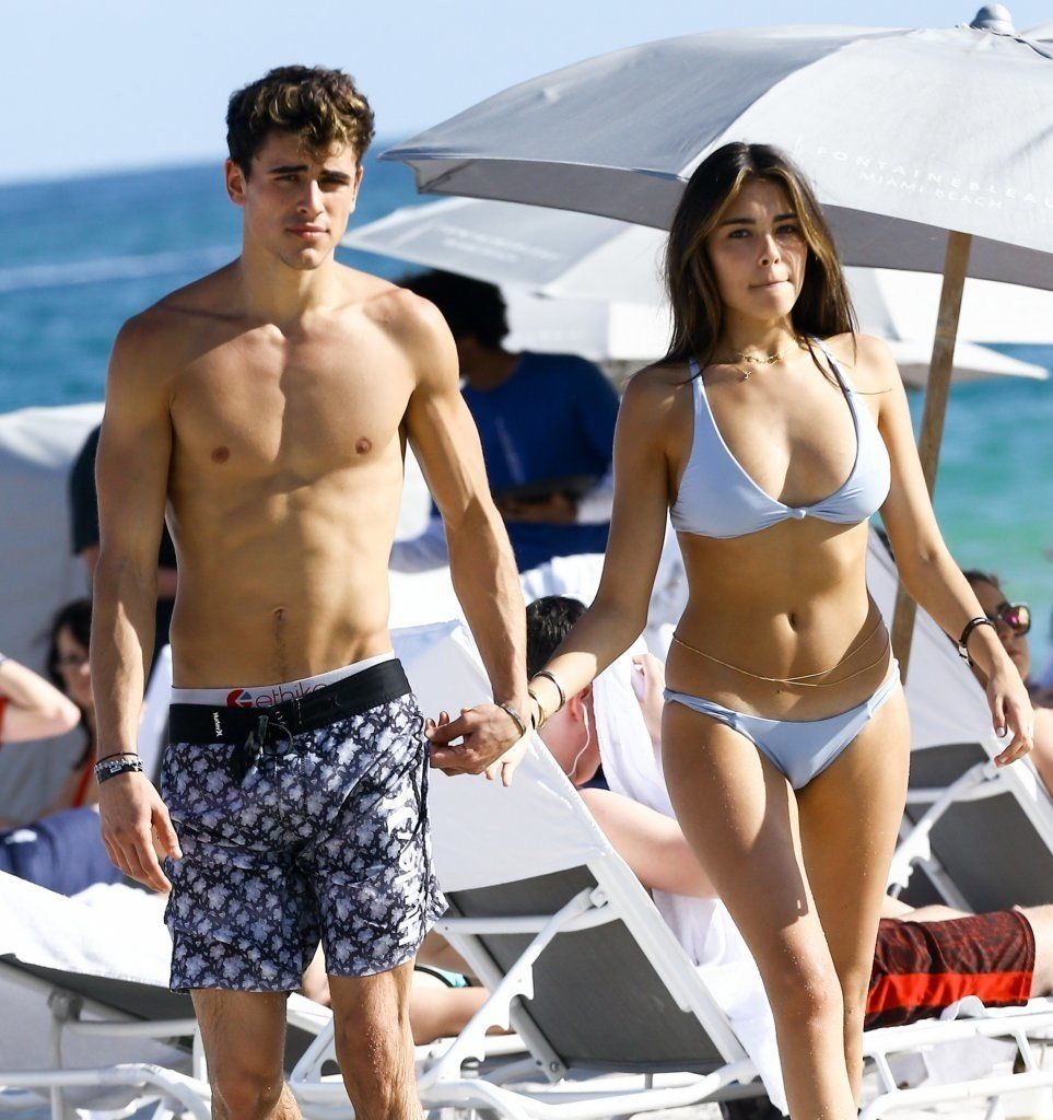 Jack Gilinsky and Madison Beer enjoying a beach day