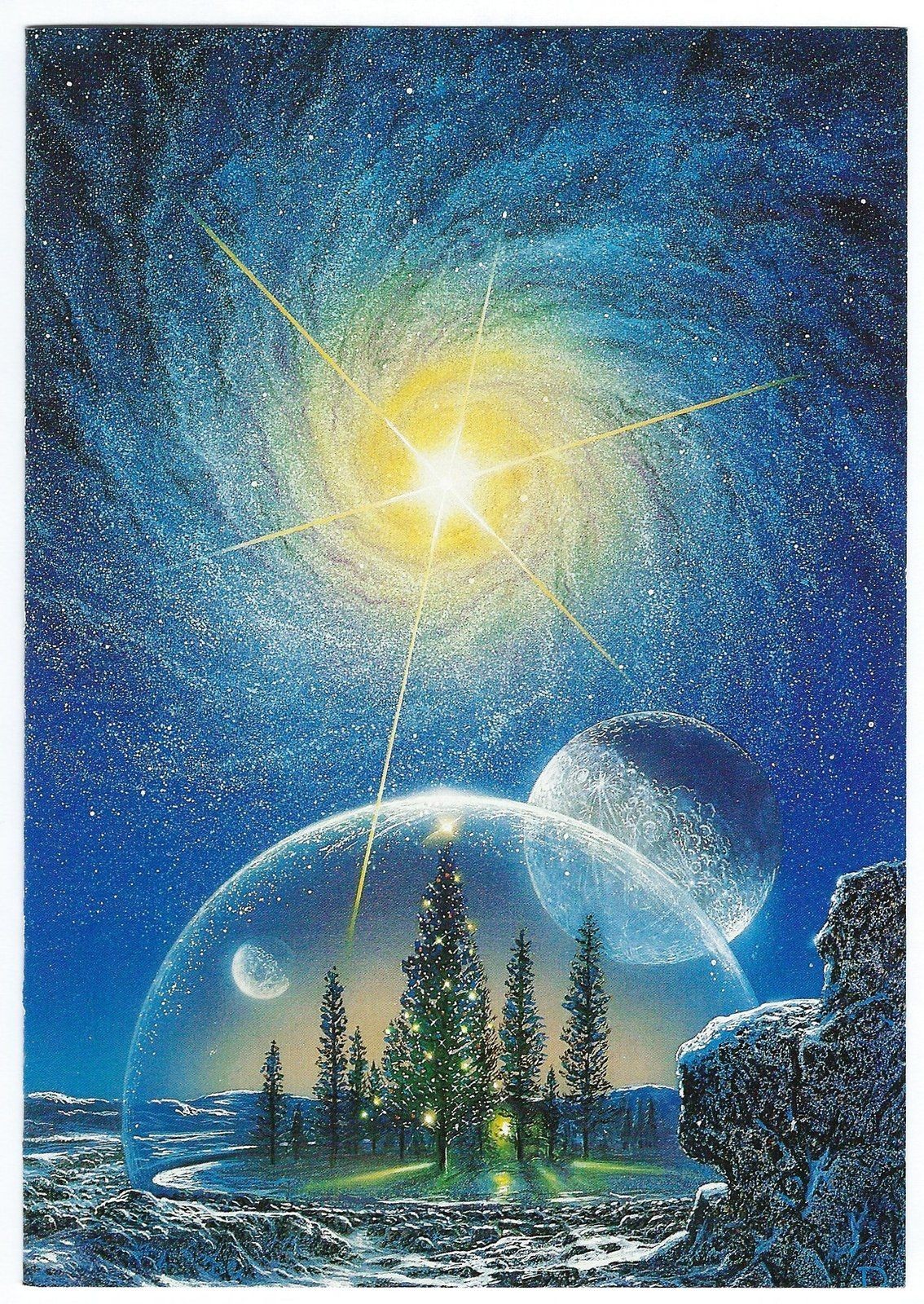 Don dixon space art greeting christmas card novagraphics