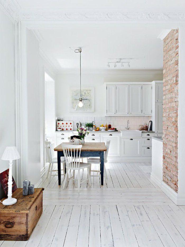 le parquet blanc une jolie tendance d co bricolage idee pinterest parquet. Black Bedroom Furniture Sets. Home Design Ideas