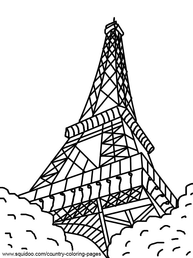eiffeltoren kleurplaat eiffeltoren parijs kleurplaten