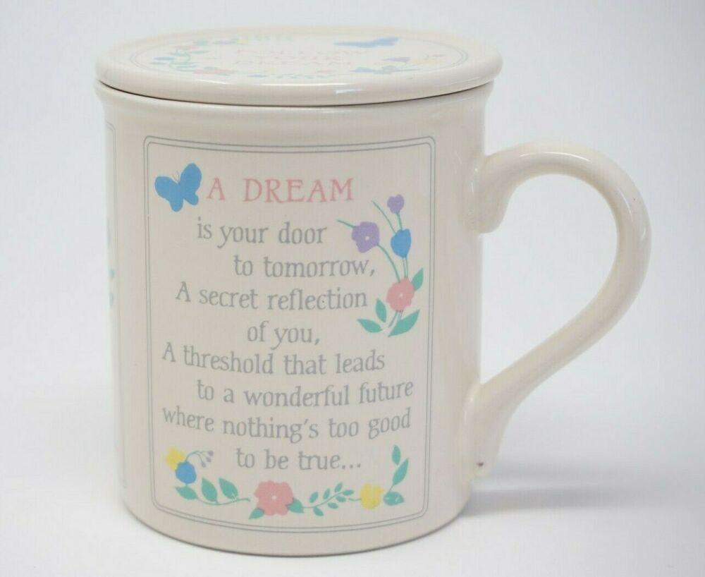 Hallmark Mug Mates Follow Your Dream Coffee Cup Mug With Lid Or Coaster Hallmark In 2020 Mugs Coffee Cups Coffee Mugs