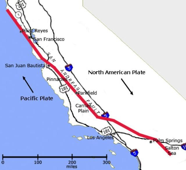 San Andreas Fault is a continental transform fault and it forms ...