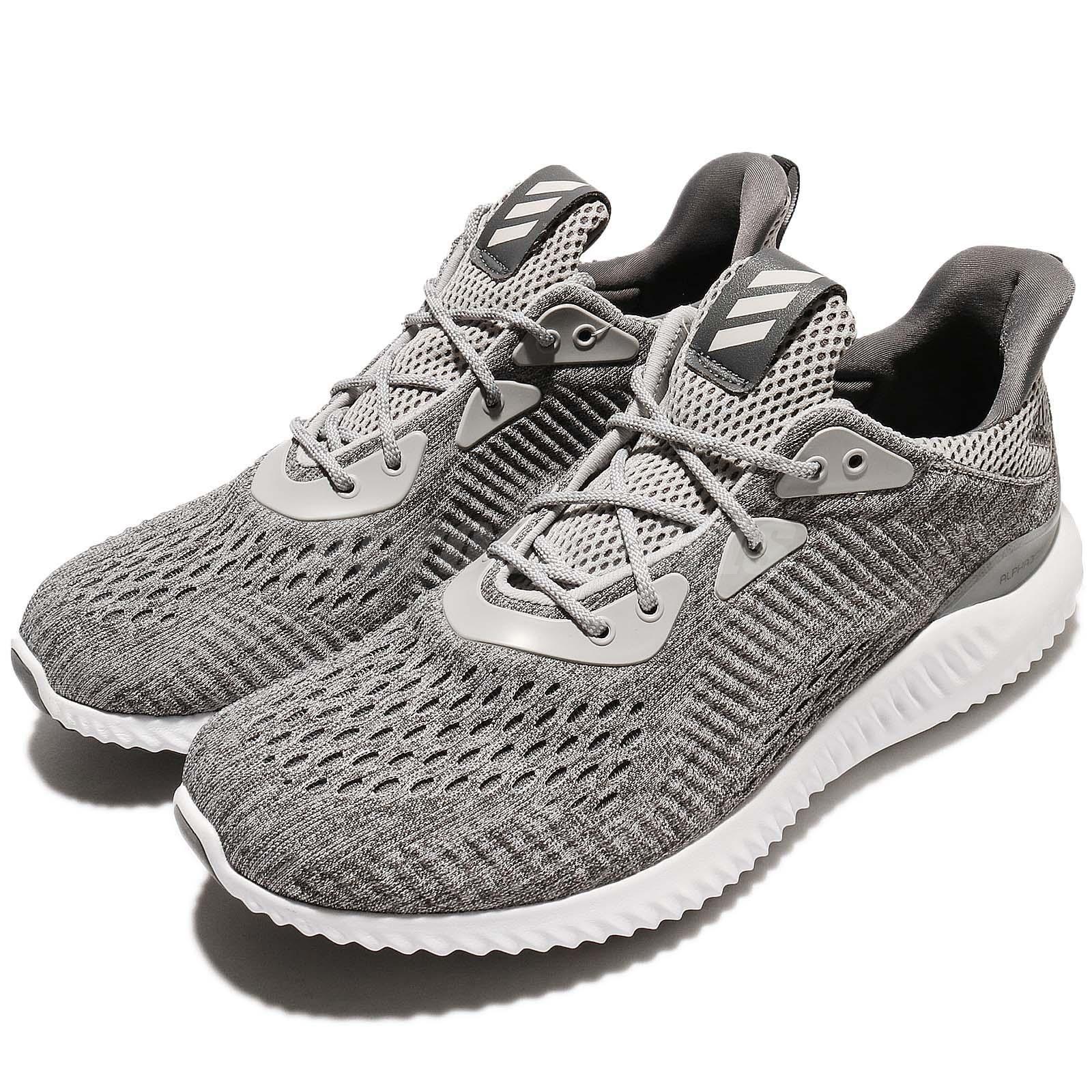 Adidas Alphabounce Em M Engineered Mesh Grey White Men Running