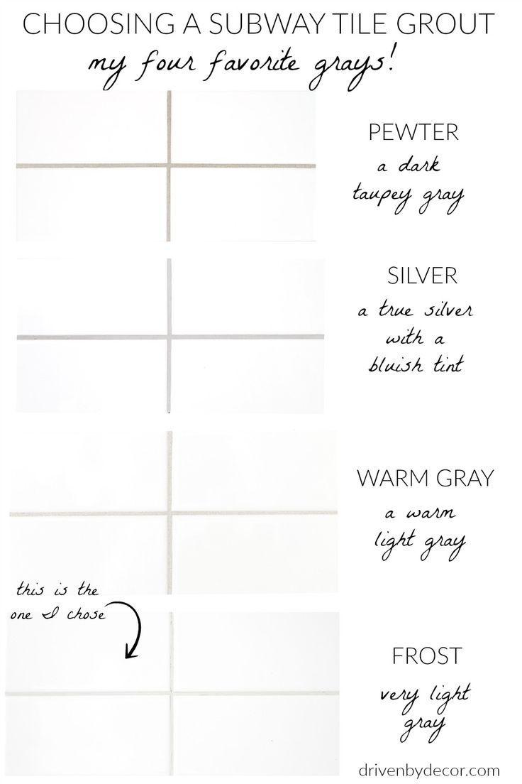 White Subway Tile with Gray Grout: My Favorite Grays #whitesubwaytilebathroom