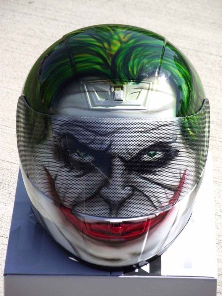 Details About The Joker Custom Airbrush Painted Motorcycle