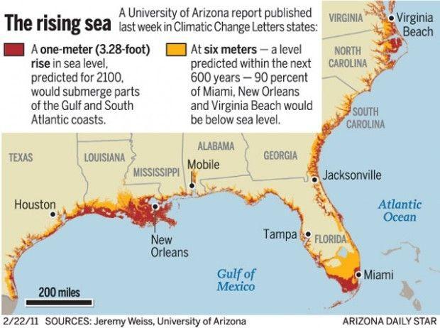 Climate Change Florida Map.Sea Level Rise Projections Florida Google Search Climate Change