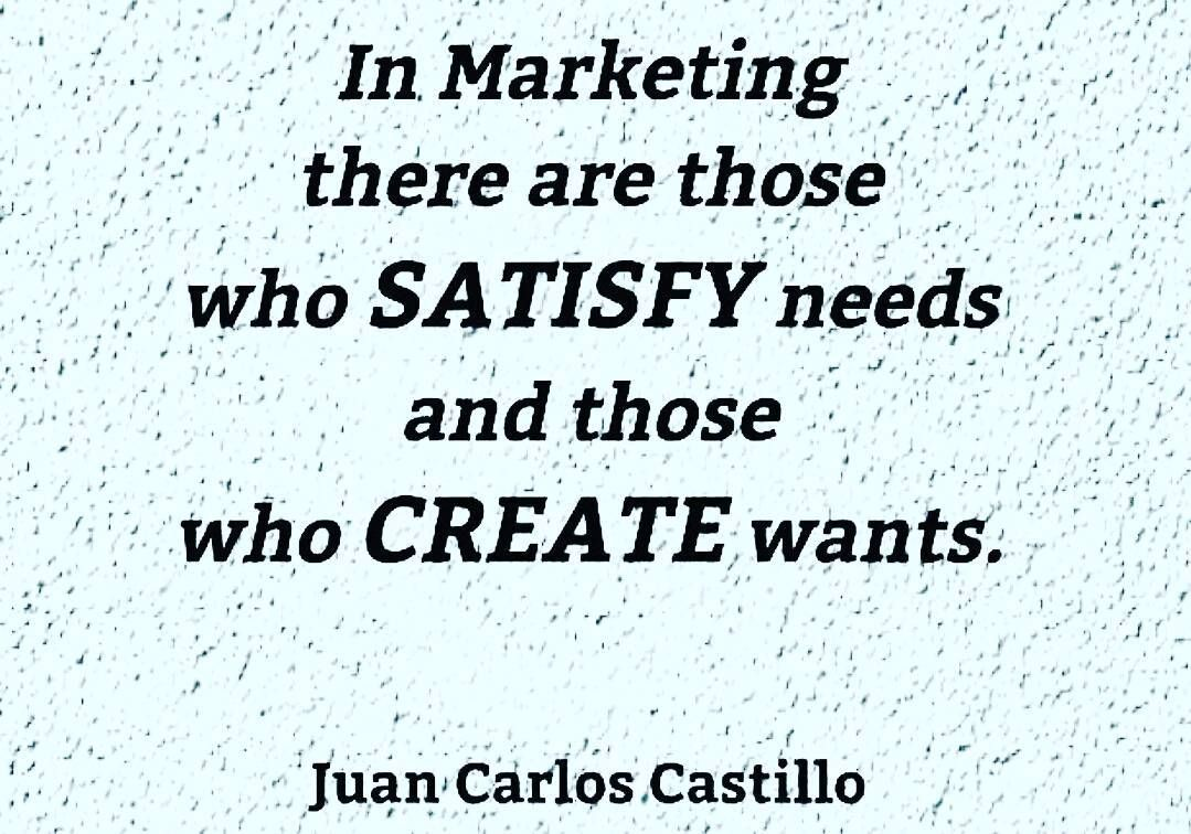 does marketing create or satisfy needs