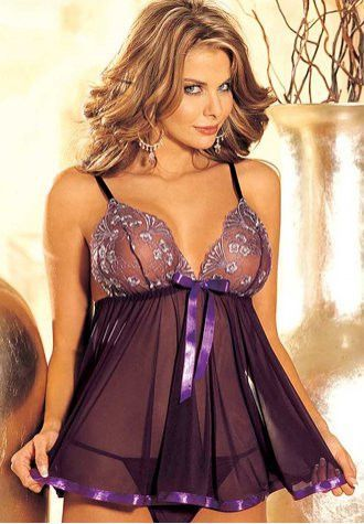 c62eb3b9b1 This sweet and sexy babydoll has a floral print bra top with adjustable  shoulder straps