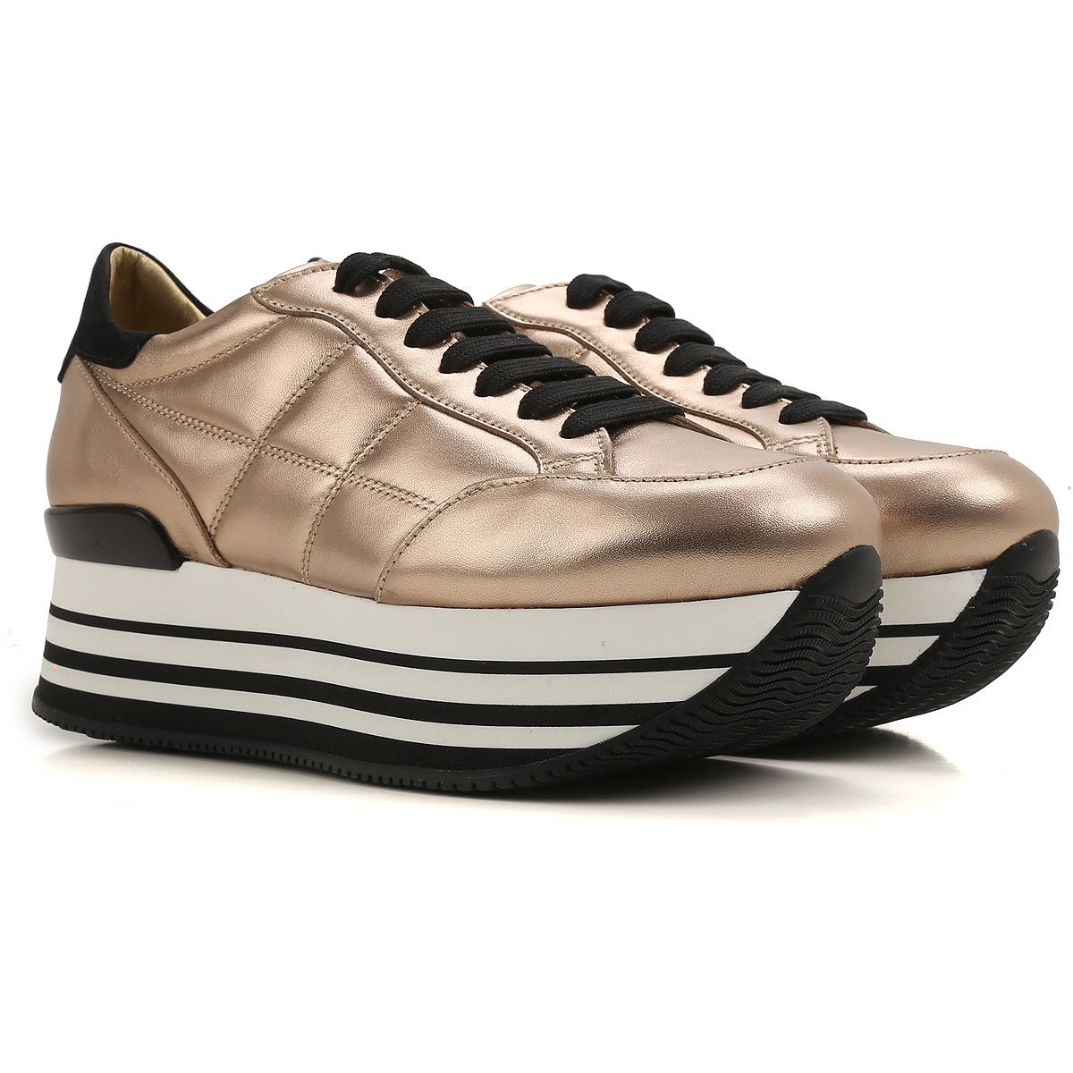 Chaussures De Sport Pour Les Femmes En Vente, Or, Cuir, 2017, 35 Hogan