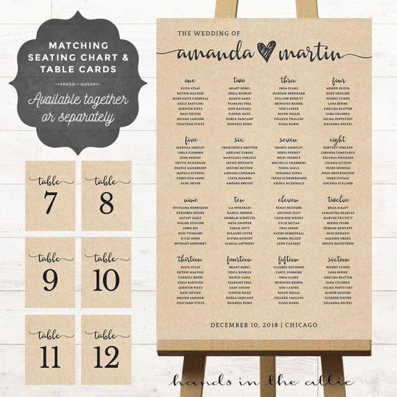 Poster seating charts for wedding receptions printable rustic style outdoor barn country kraft theme table numbers also chart alphabetical board guest rh pinterest