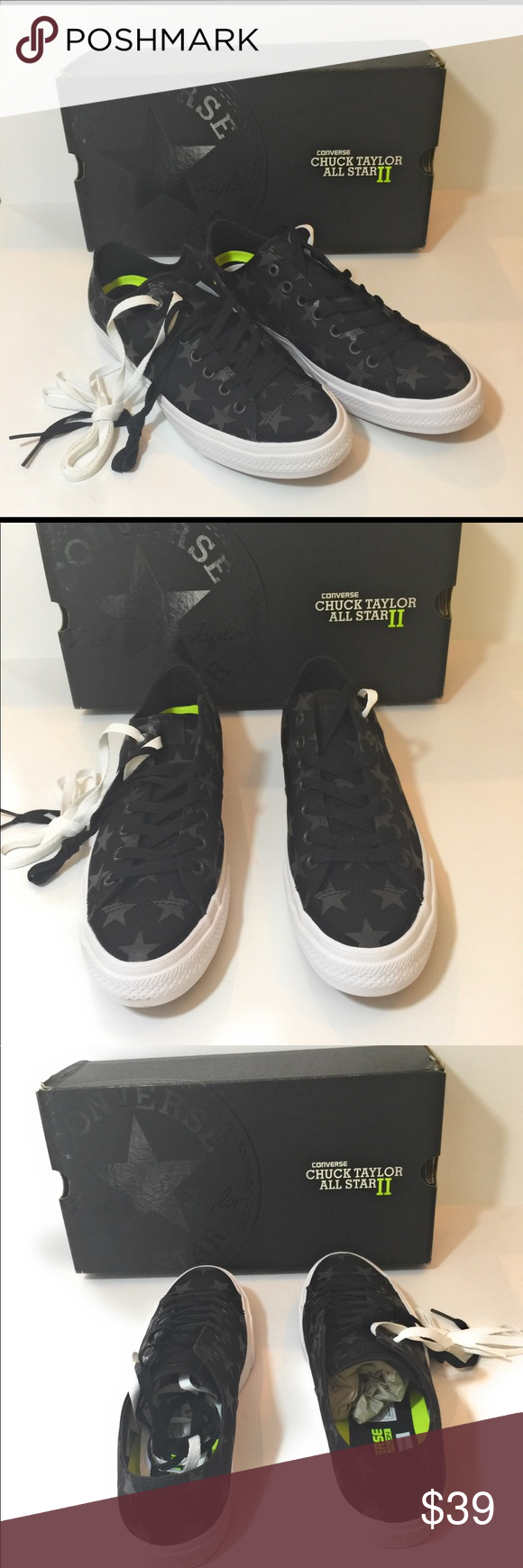fdc9f1bdedca75 Converse 151161C CTAS II OX Converse 151161C CTAS II OX Color black black  white Unisex Men size 10 women size 12 New with box Converse Shoes Sneakers