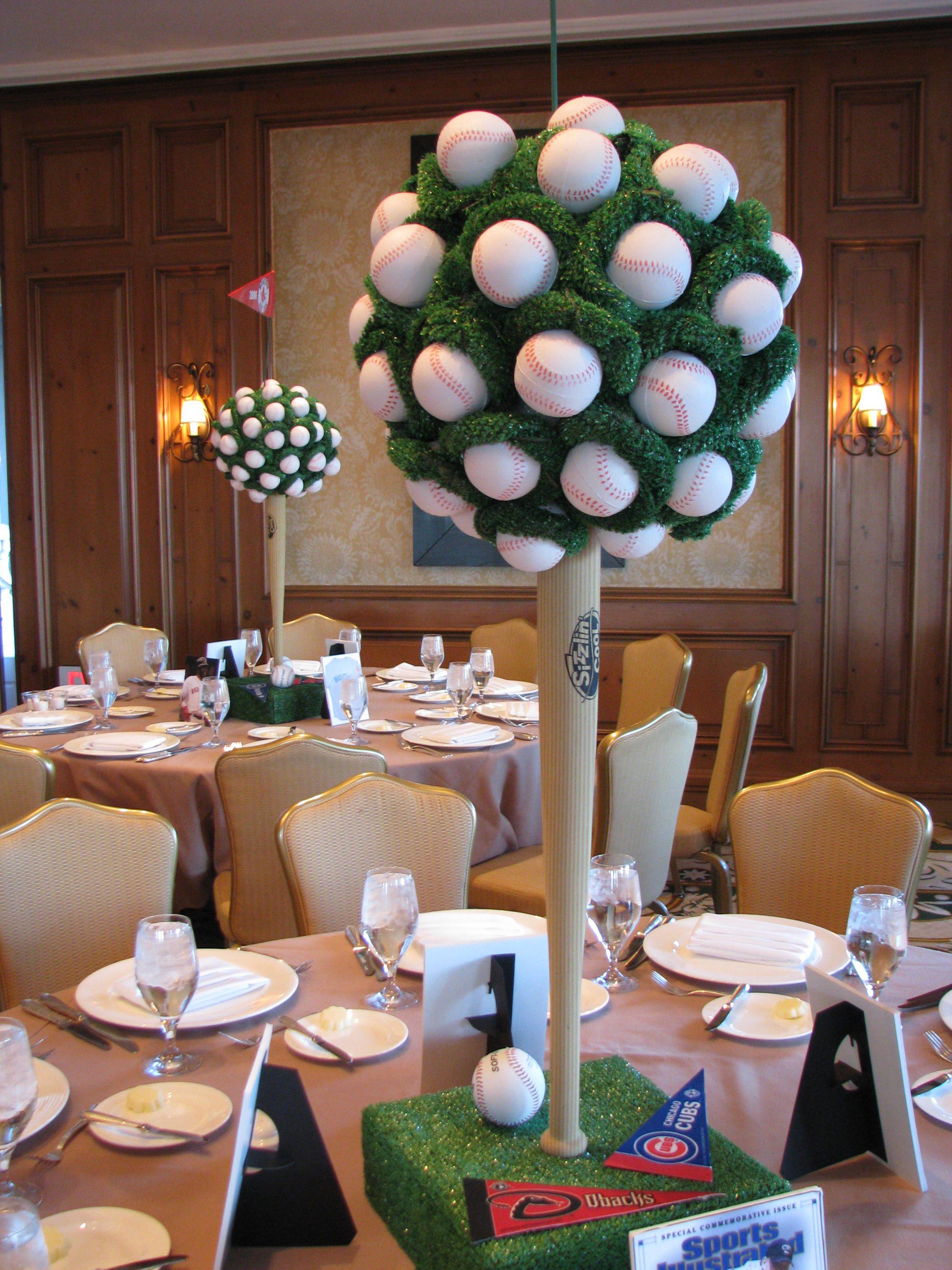 Baseball Banquet Centerpiece Ideas : Baseball bar mitzvah jonathan fong style party