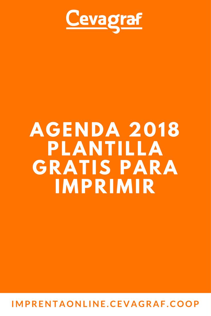 Plantilla Gratis Agenda 2018 para Imprimir | Agenda semanal ...
