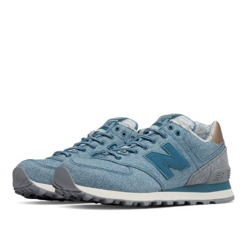 New Balance 574 Rose Gold Women's Shoes - Jet Stream / Steel (WL574AEC)