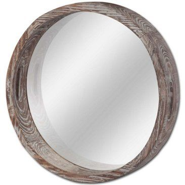 Check out this item at One Kings Lane! Foster Natural Wood Mirror, Brown