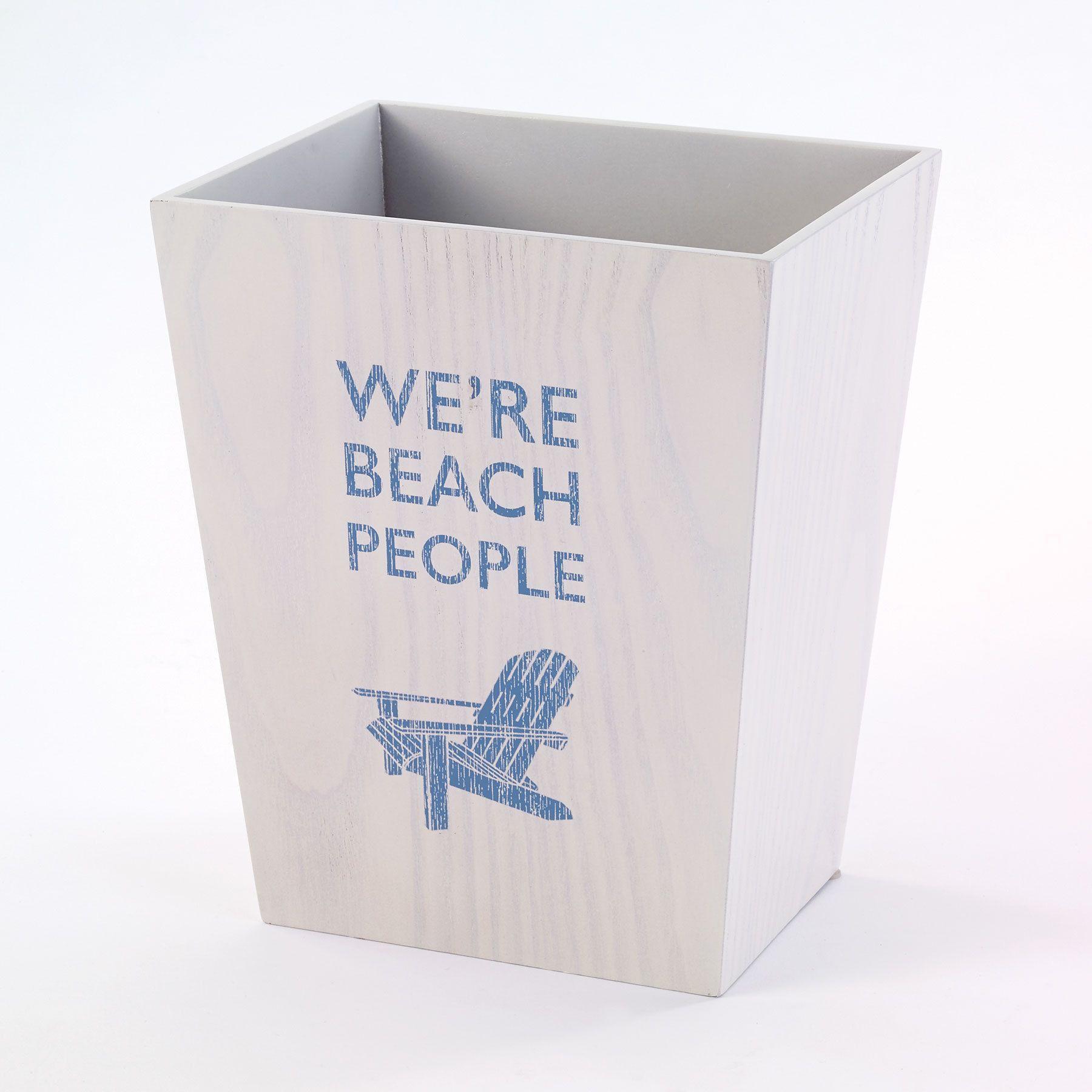 Avanti Beach Words Waste Basket