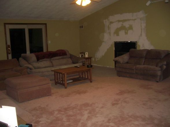 run down living room interior