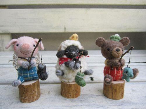 【~のあわん日和~】Feltneedle wool - 釣り日和