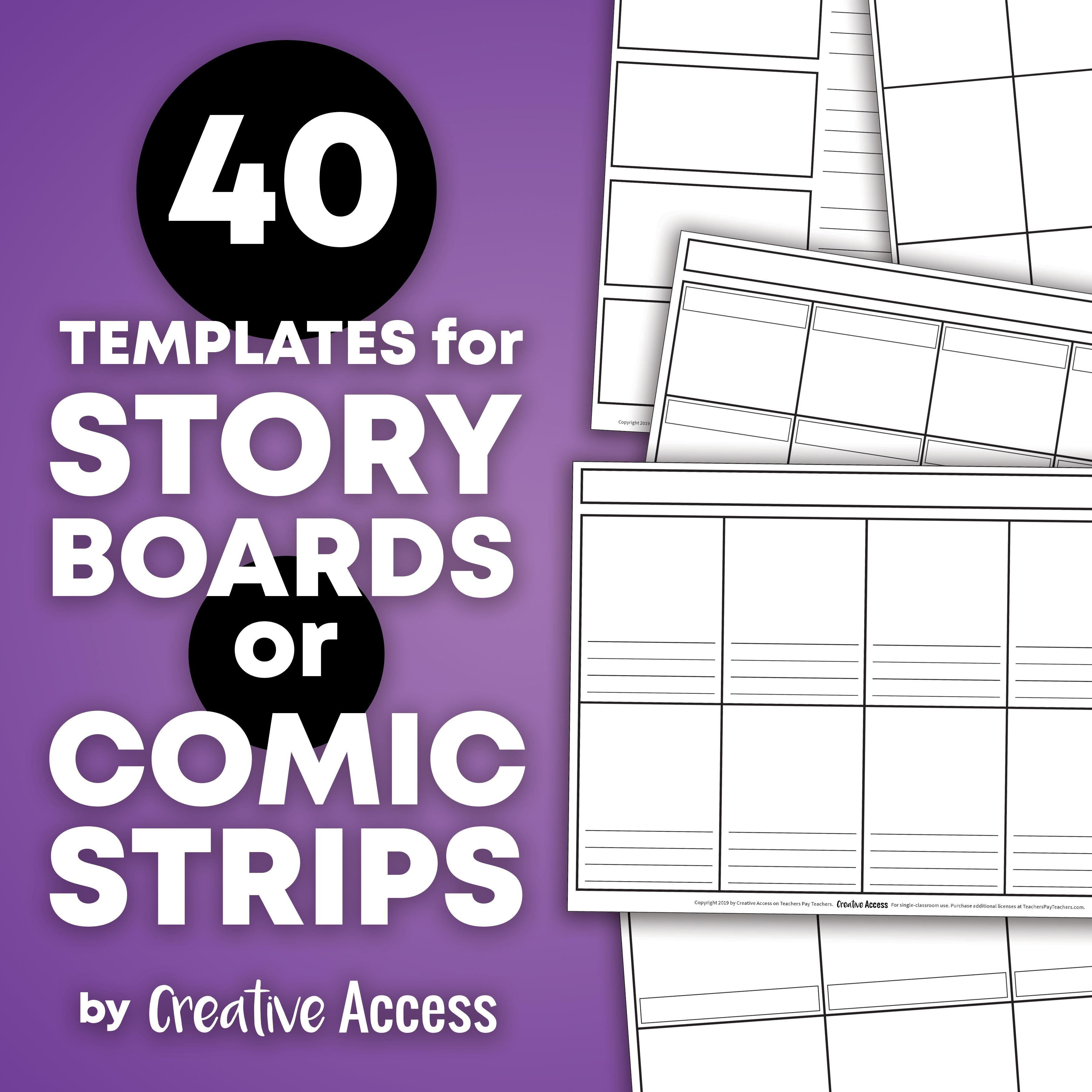 Graphic Novel Template Comic Book Template