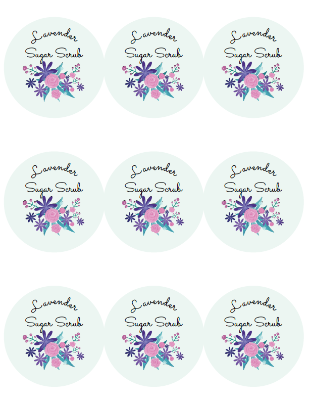 Lavender Sugar Scrub Recipe And Printable Labels
