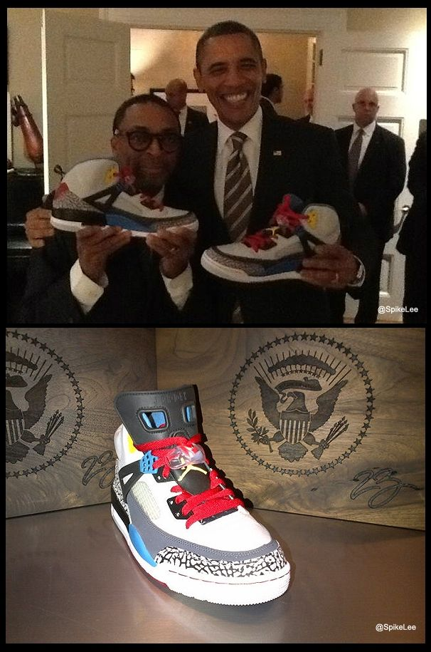 552aa1e42b4 Obama Jordans! Spike Lee hooks president Barack Obama up with a custom  Jordan package.