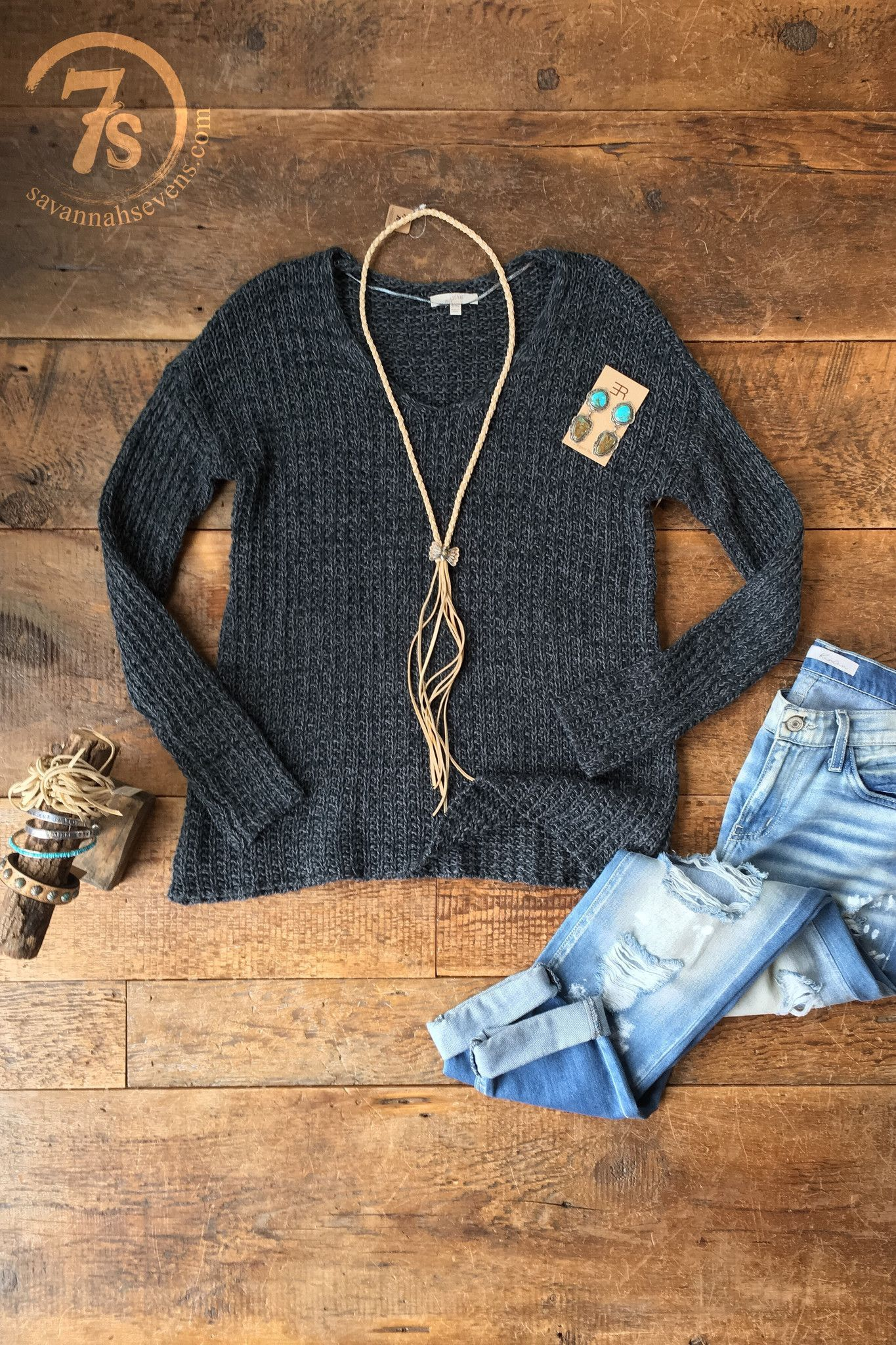 The Lanely- Dusty steel blue sweater. Super soft cable knit ...