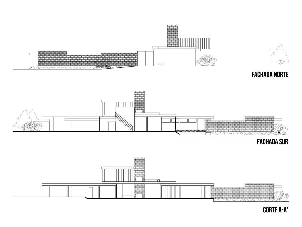 Galeria de Clssicos da Arquitetura Casa Kaufmann  Richard Neutra  18  Architecture  Pinterest  Architecture House e Desert homes