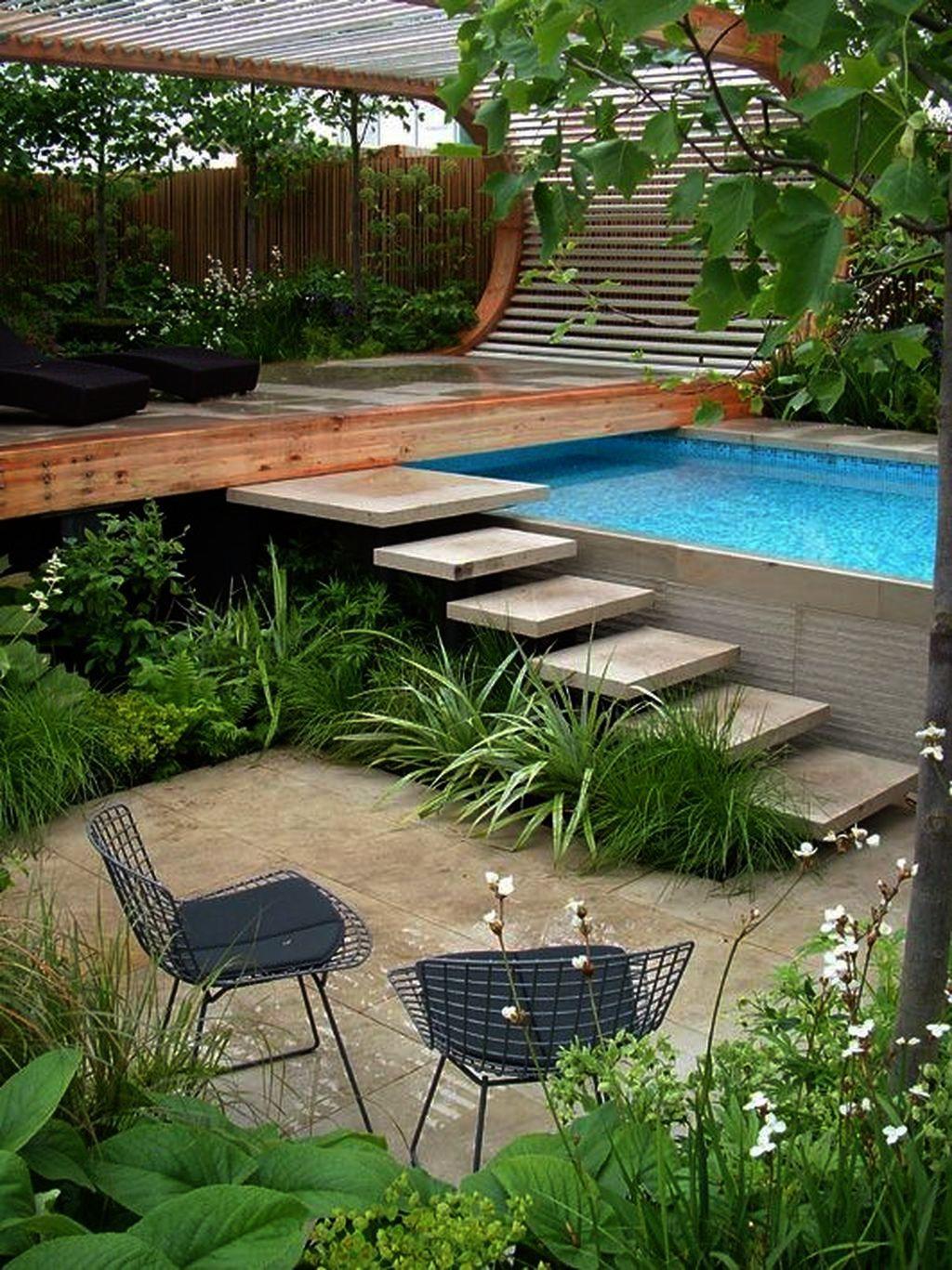 Simple But Wonderful Backyard Landscape Design 05 Backyard Pool Designs Swimming Pools Backyard Backyard Pool Landscaping