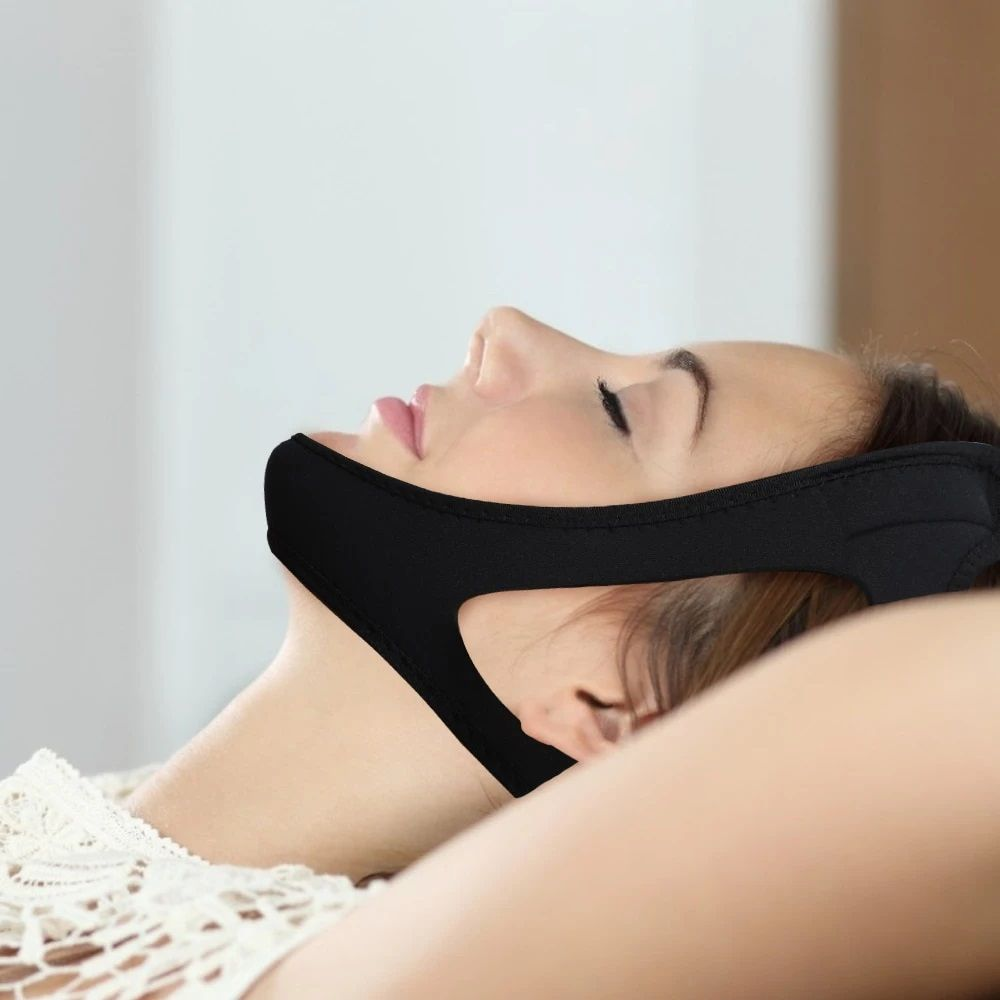 Anti Snoring Chin Belt for Both Women and Men #snoring #antisnoring #antisnoringstrips #nasalantisno...