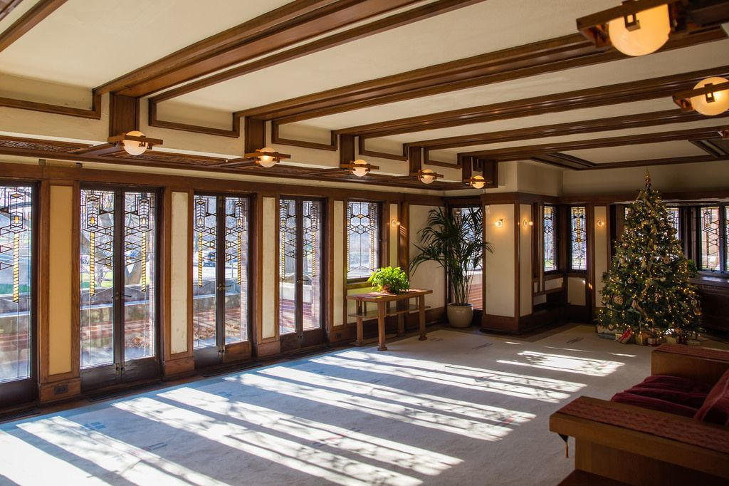 Exceptionnel Frank Lloyd Wrightu0027s Robie House: Living Room By Jeff Goldberg Via Flickr.  When This House Was Built These Windows Looked Out To An Open Prairie Area.