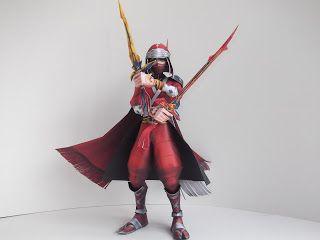 Final Fantasy Papercraft: Dissidia: Final Fantasy: Onion Knight: Ninja