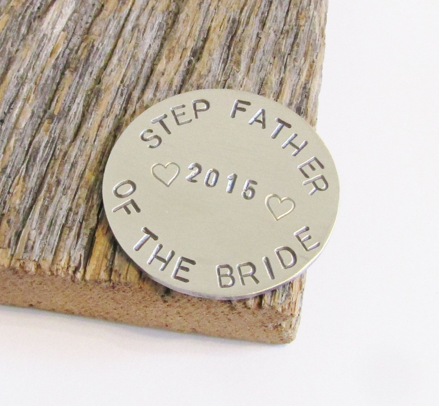 Gift for step father of the bride gift golfing ball marker