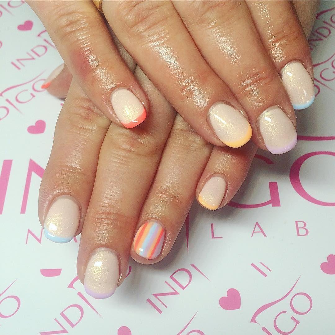 Kolorowy French Or Jak Dla Mnie Nails Hibridnails