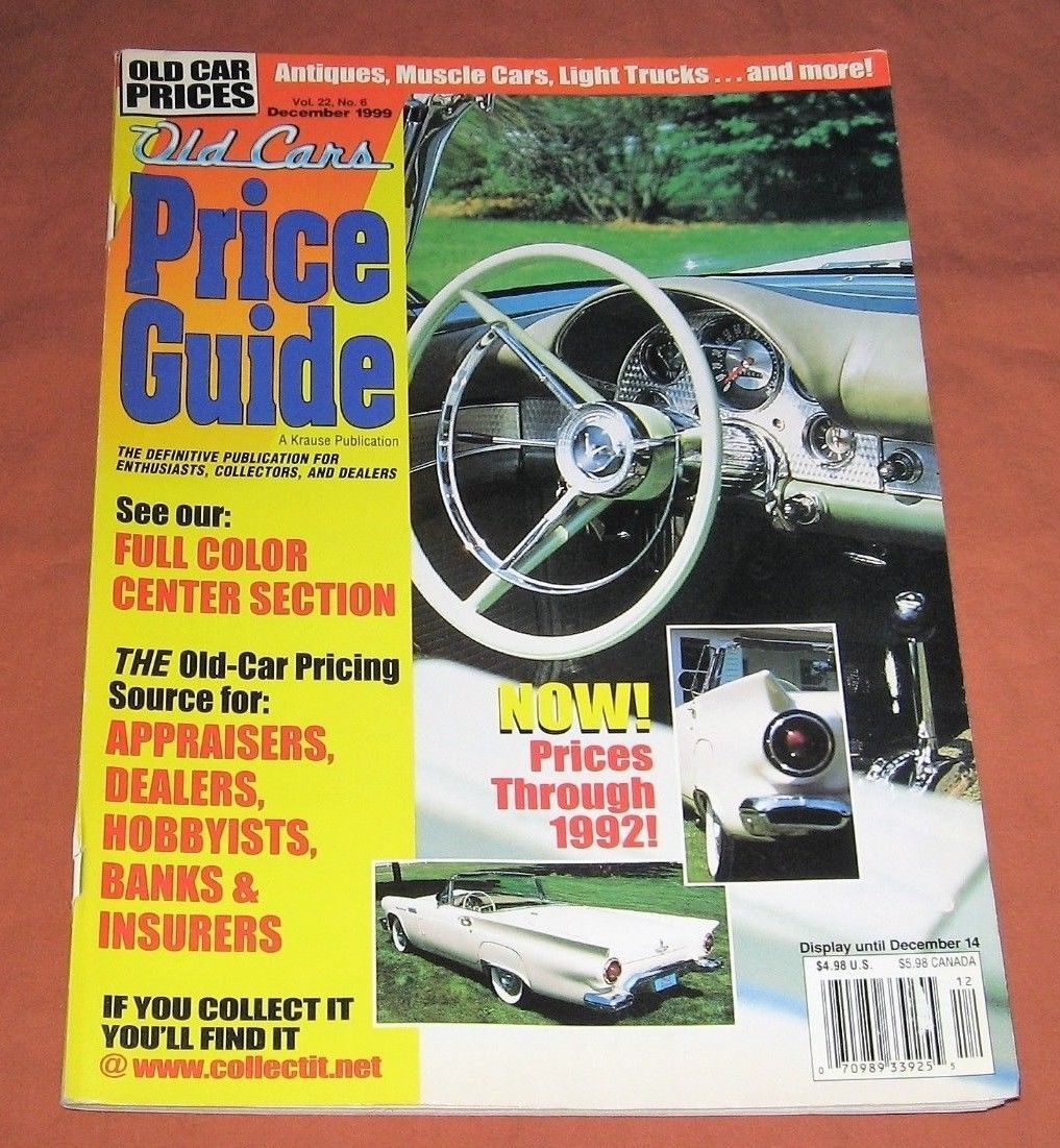 Old cars price guide magazine december 1999 vol 22 no