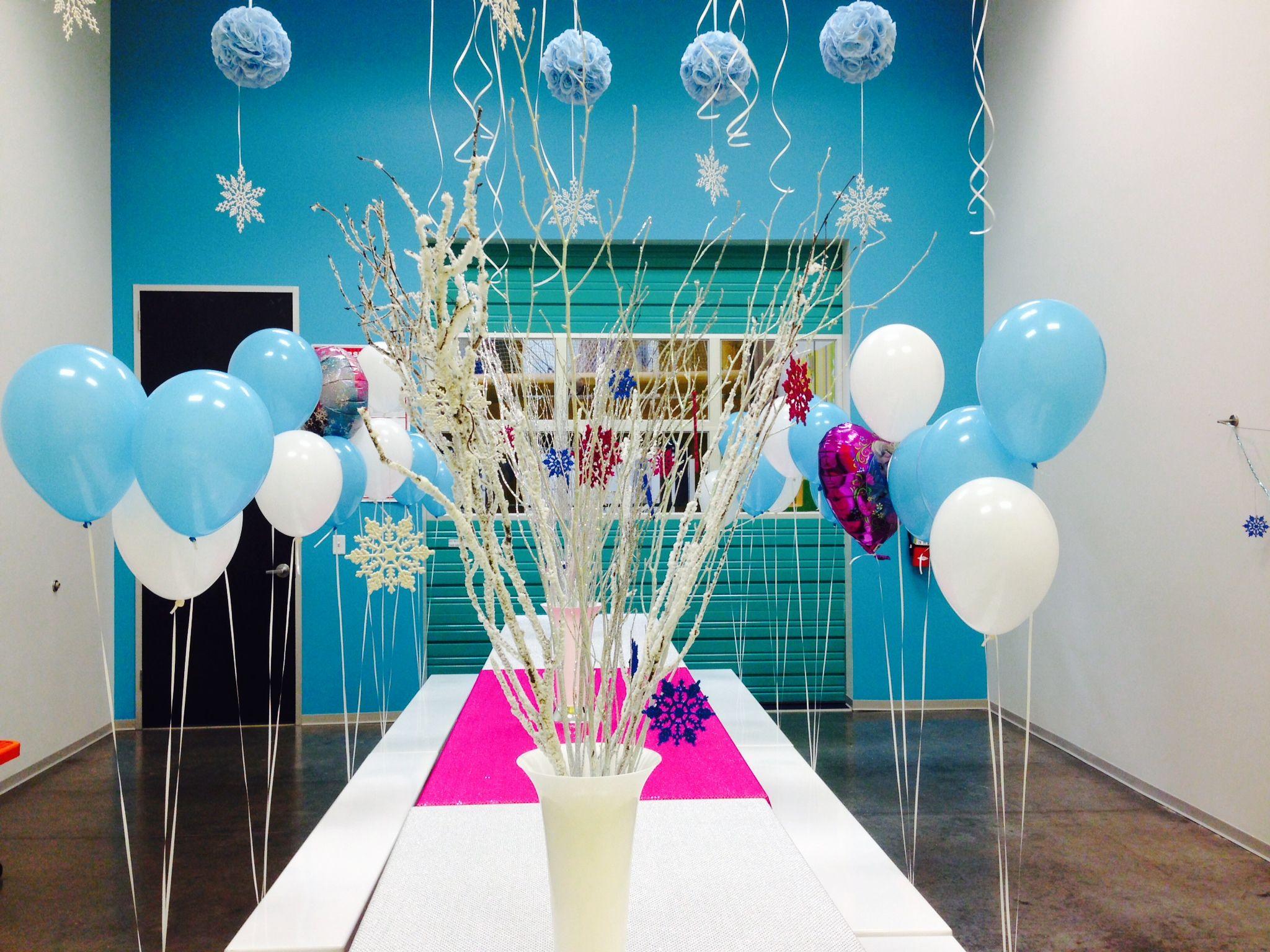 Decoracion de frozen globos frozen party - Decoracion con globos para cumpleanos ...