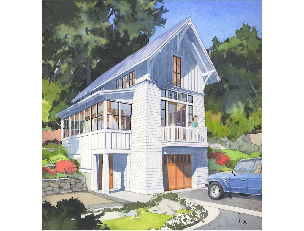 The Hillside Cottage Perfect Little House Small Cottage Plans Hillside House Narrow Lot House Plans