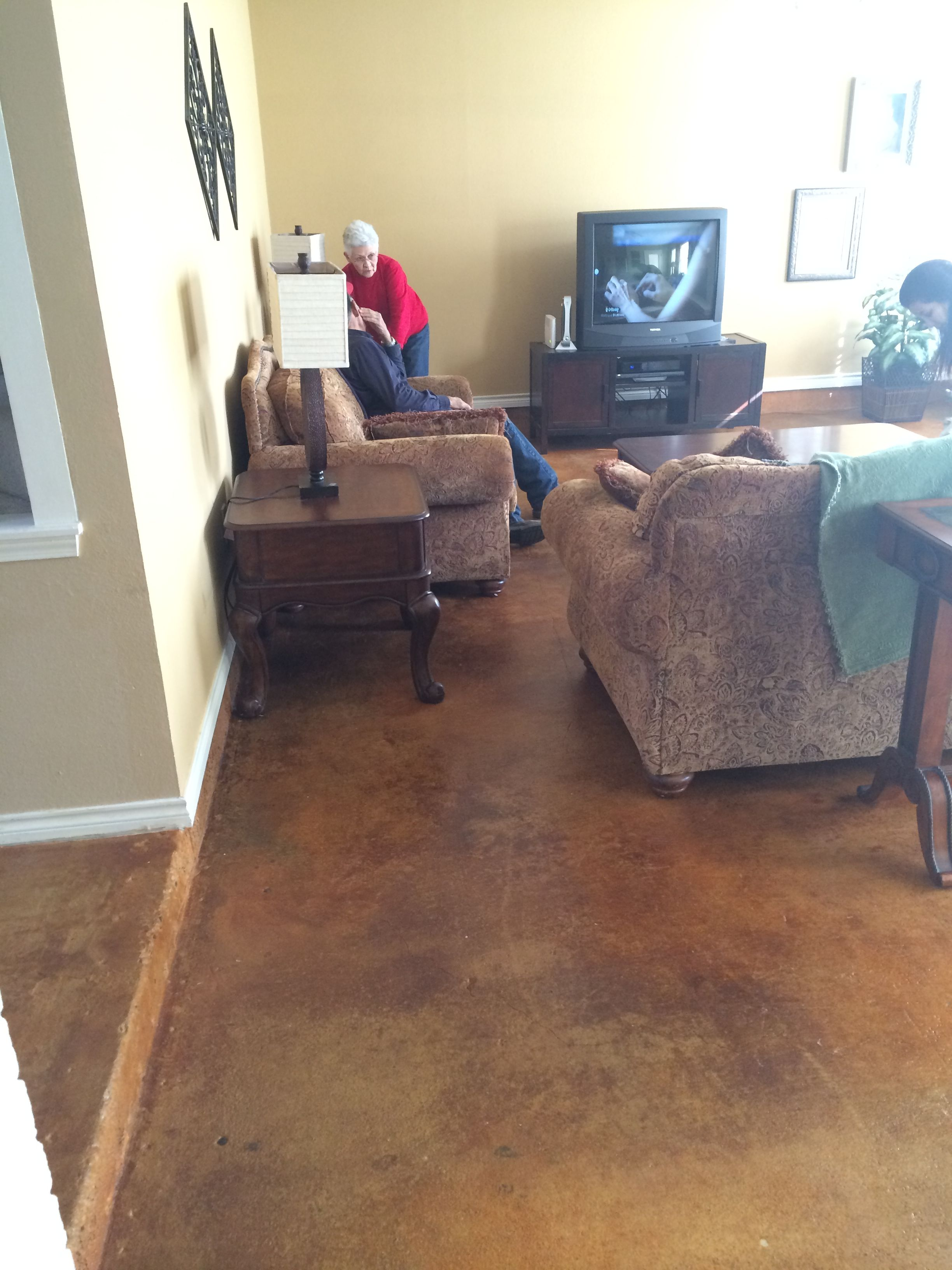 Acetone Concrete Stain Stained Concrete Concrete Stain #stained #concrete #living #room