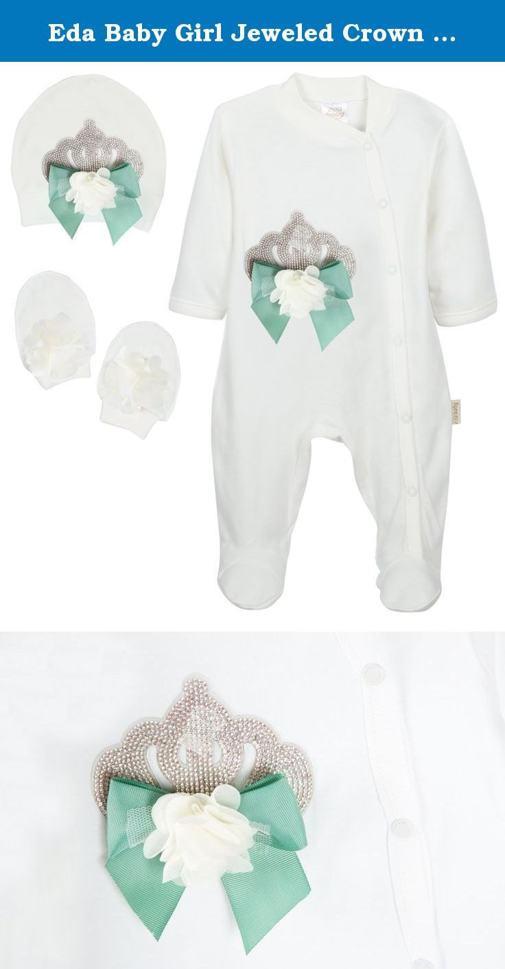 145a3a097779 Eda Baby Girl Jeweled Crown Layette 3 Piece Gift Set (3-6 Months ...